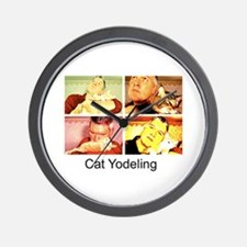 Cat Yodeling Wall Clock