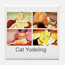 Cat Yodeling Tile Coaster