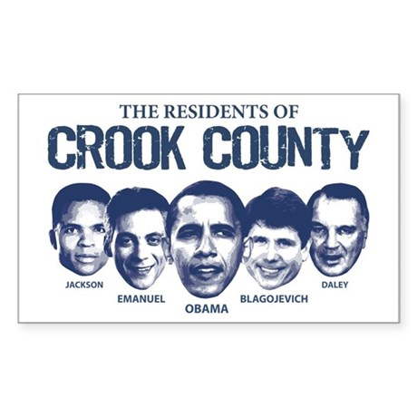 Residents of Crook County Rectangle Sticker