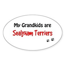 Sealyham Grandkids Oval Decal