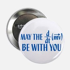 """May The Force Be With You 2.25"""" Button (10 pack)"""