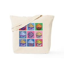Lichtenstein Cupcakes Tote Bag