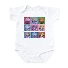 Lichtenstein Cupcakes Infant Bodysuit