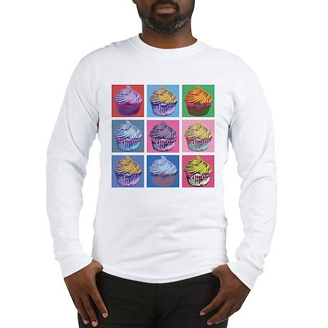 Lichtenstein Cupcakes Long Sleeve T-Shirt