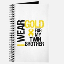 I Wear Gold Twin Brother Journal
