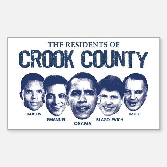 Residents of Crook County Rectangle Decal