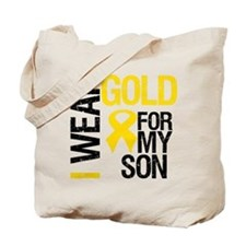 I Wear Gold For My Son Tote Bag