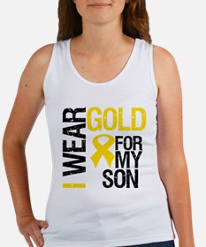 I Wear Gold For My Son Women's Tank Top