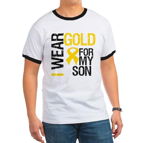 I Wear Gold For My Son Ringer T