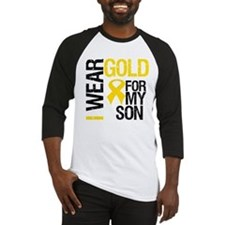 I Wear Gold For My Son Baseball Jersey