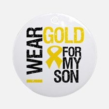 I Wear Gold For My Son Ornament (Round)