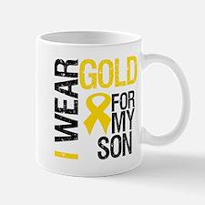 I Wear Gold For My Son Mug