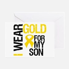 I Wear Gold For My Son Greeting Card