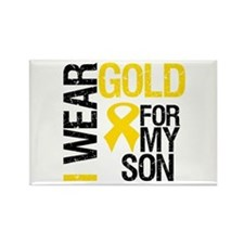 I Wear Gold For My Son Rectangle Magnet