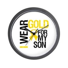 I Wear Gold For My Son Wall Clock