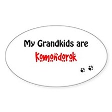 Komondor Grandkids Oval Decal
