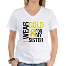 I Wear Gold For My Sister Shirt