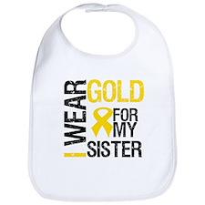 I Wear Gold For My Sister Bib