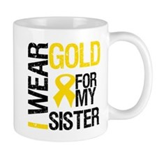 I Wear Gold For My Sister Mug