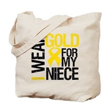 I Wear Gold For My Niece Tote Bag