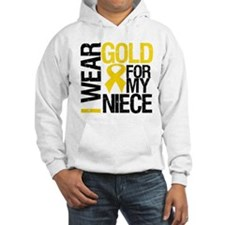 I Wear Gold For My Niece Hoodie