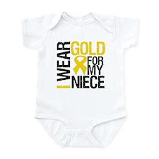 I Wear Gold For My Niece Infant Bodysuit