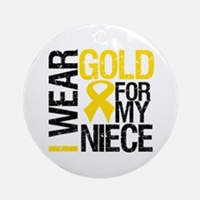 I Wear Gold For My Niece Ornament (Round)