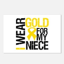 I Wear Gold For My Niece Postcards (Package of 8)