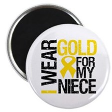 I Wear Gold For My Niece Magnet