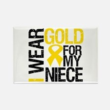 I Wear Gold For My Niece Rectangle Magnet (10 pack