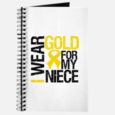 I Wear Gold For My Niece Journal