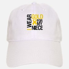 I Wear Gold For My Niece Baseball Baseball Cap