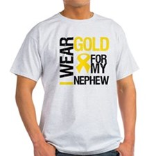I Wear Gold For Nephew T-Shirt