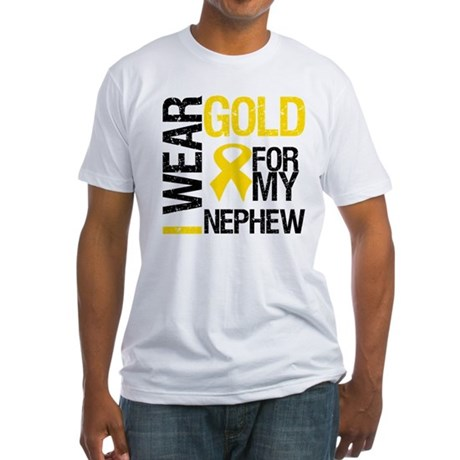 I Wear Gold For Nephew Fitted T-Shirt