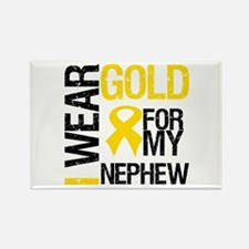 I Wear Gold For Nephew Rectangle Magnet