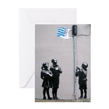 Banksy Flag Greeting Card