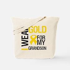 I Wear Gold For Grandson Tote Bag