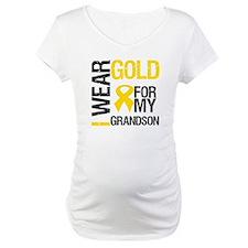 I Wear Gold For Grandson Shirt