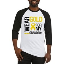 I Wear Gold For Grandson Baseball Jersey