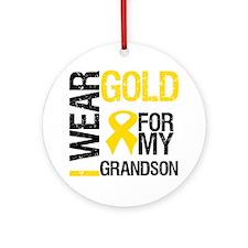 I Wear Gold For Grandson Ornament (Round)