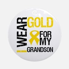 I Wear Gold For Grandson Ornament (Round)