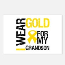 I Wear Gold For Grandson Postcards (Package of 8)