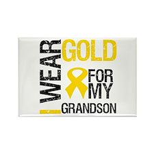 I Wear Gold For Grandson Rectangle Magnet