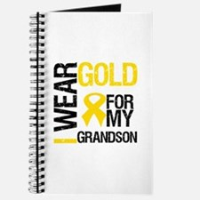 I Wear Gold For Grandson Journal