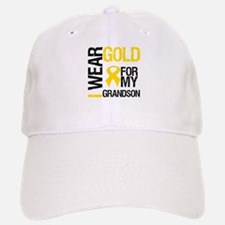 I Wear Gold For Grandson Baseball Baseball Cap