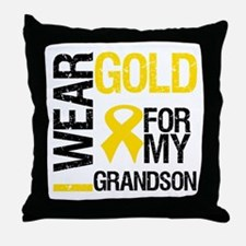 I Wear Gold For Grandson Throw Pillow