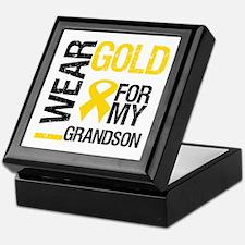 I Wear Gold For Grandson Keepsake Box
