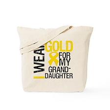 I Wear Gold Granddaughter Tote Bag