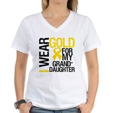 I Wear Gold Granddaughter Shirt