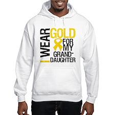 I Wear Gold Granddaughter Hoodie
